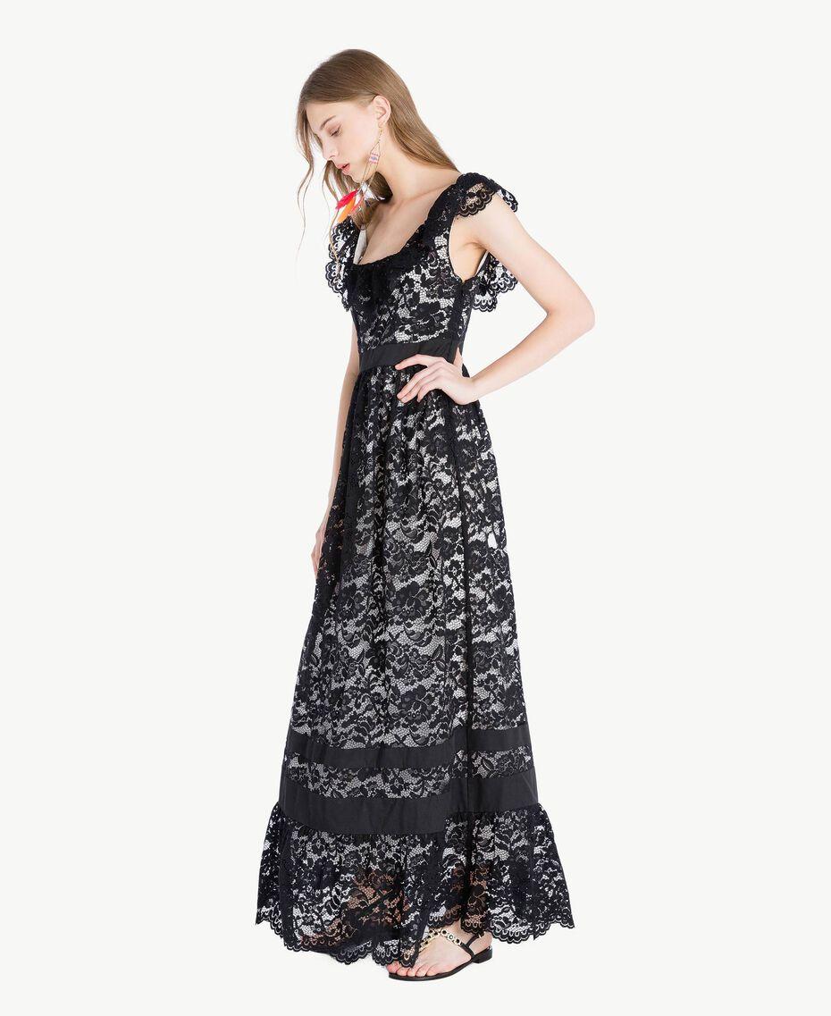 Long lace dress Black Woman TS828N-02