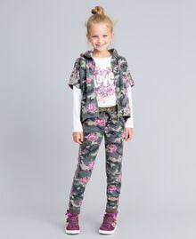 Sweat en coton stretch imprimé Imprimé Camouflage / Paillettes Enfant GA82N1-0T