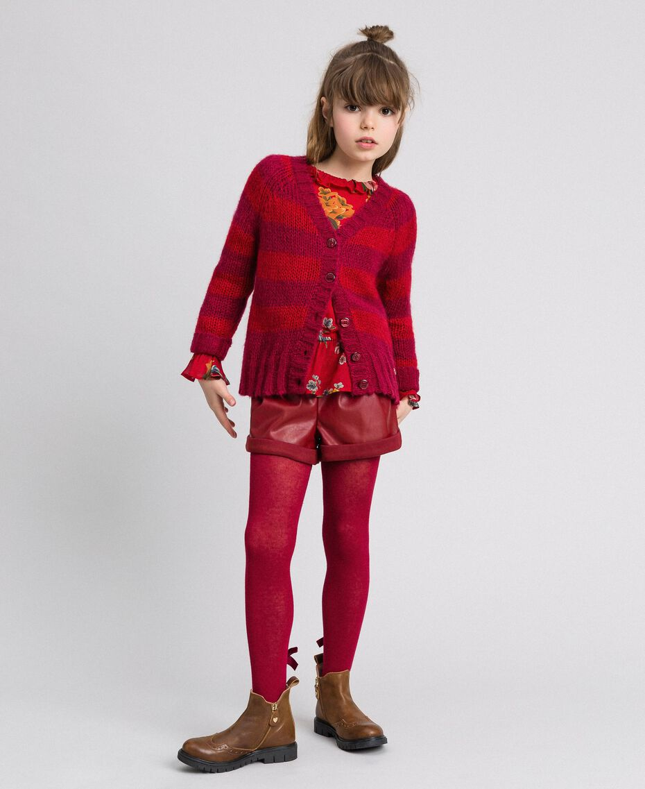 Faux leather shorts Ruby Wine Red Child 192GJ2012-0T
