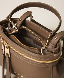 Small faux leather New Cécile bag Turtledove Woman 202TB7181-05