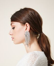 Boucles d'oreilles avec strass et perles Cristal Femme 202TA4312-0S