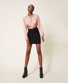 """Two-tone dress with sheath skirt Two-tone Black / """"Vintage"""" Pink Woman 202ST2027-01"""
