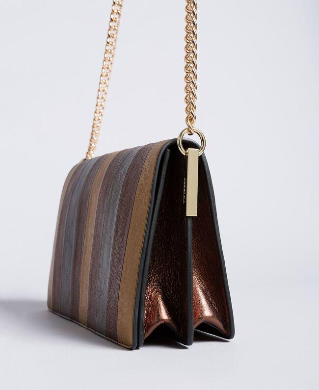 Umhängetasche aus mehrfarbigem Metallic-Leder Mehrfarbig-Metallic Frau OA8TDA-03