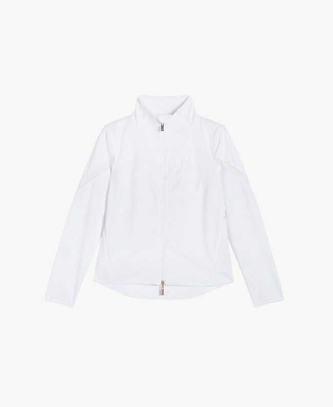 Mesh jacket White Woman LS83CC-01