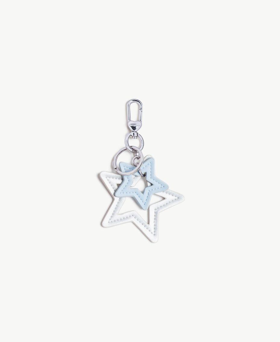 Schlüsselanhänger in Sternform Zweifarbig Silber / Topasazur Frau VS8PE1-01