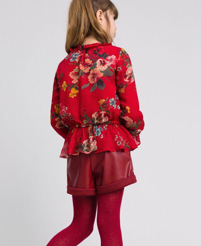 Blouse en crêpe georgette avec imprimé floral Imprimé Fleurs des Champs Grenadier Enfant 192GJ2591-03