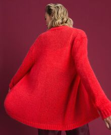 Mohair cardigan Coral Pink Woman 192TT3270-03