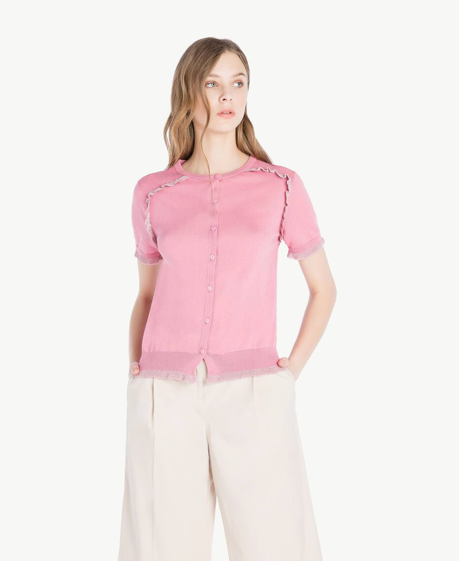 Gilet lurex Rose «Hortensia» Foncé Femme TS8345-01