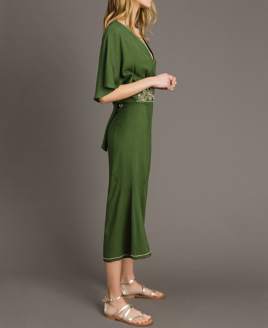 Pantalon court Vert Amazone Femme 191LM2REE-02