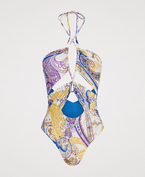 Paisley print one-piece swimsuit