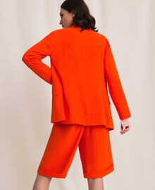 "Georgette blazer ""Ace"" Orange Woman 201LL2NHH-04"