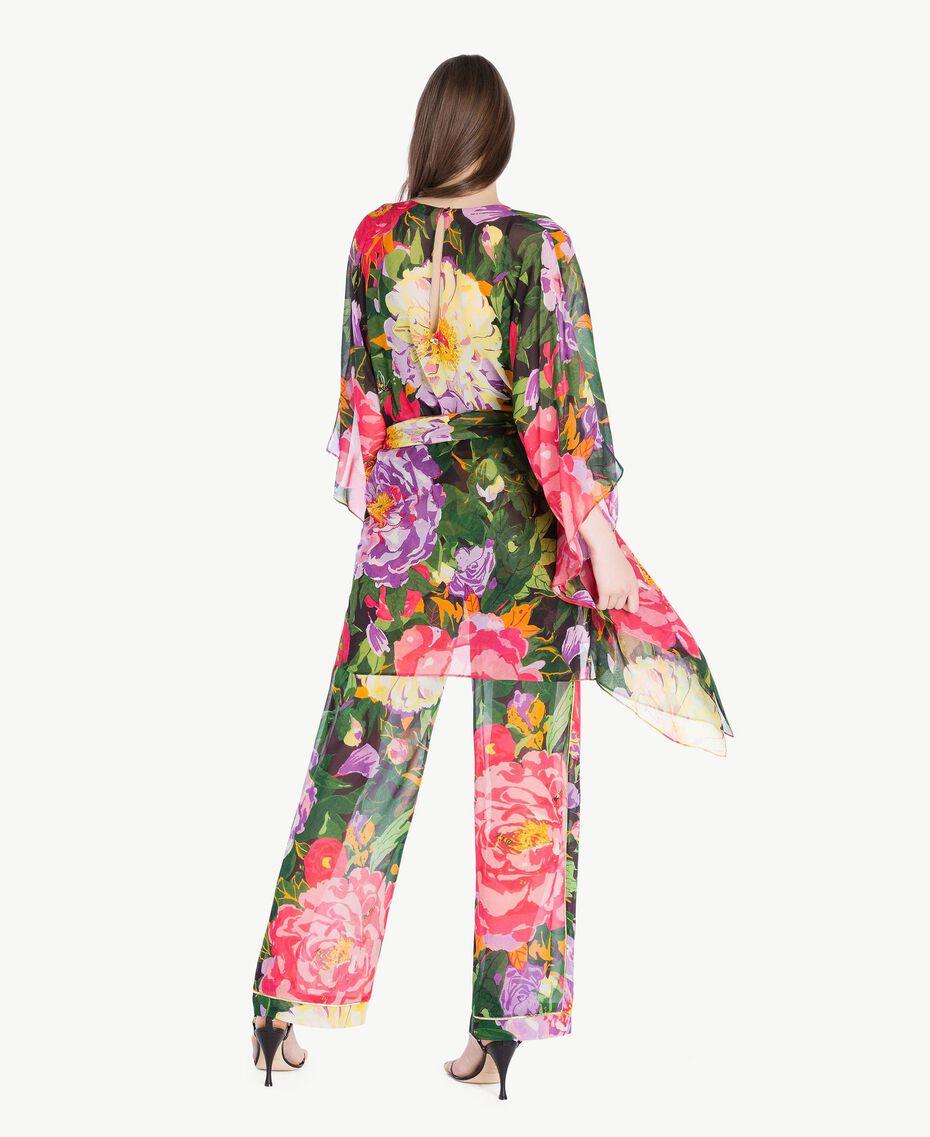 Floral pattern kaftan Summer Garden Print Woman TS824Q-03