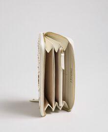 Portafoglio in pelle con borchie Bianco Papiro Donna 192TA7113-04