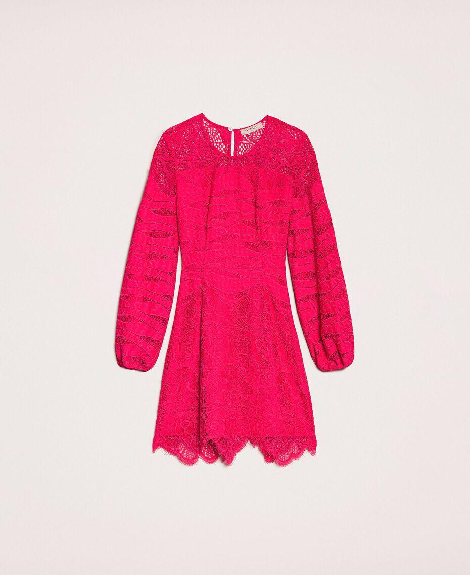 Платье из кружева макраме Вишня женщина 201TP2031-0S