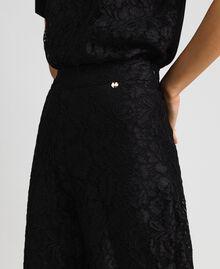 Pantalon cropped en dentelle macramé Noir Femme 192MP2491-04