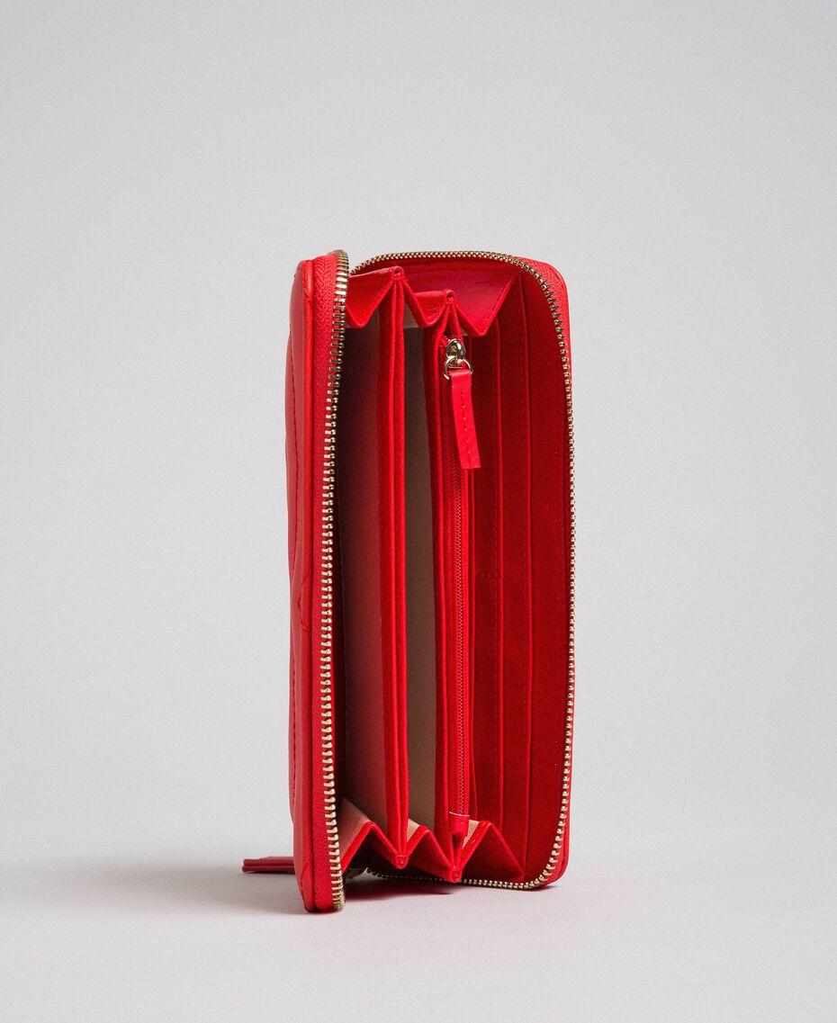 Portefeuille en similicuir Rouge Coquelicot Femme 192MA7087-03