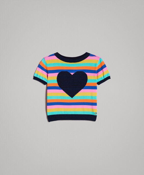 Pull en coton à rayures multicolores