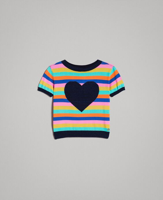 Multicolour striped cotton jumper