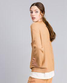 "Lurex yarn jumper ""Amber Dust"" Brown Woman IA82LL-02"