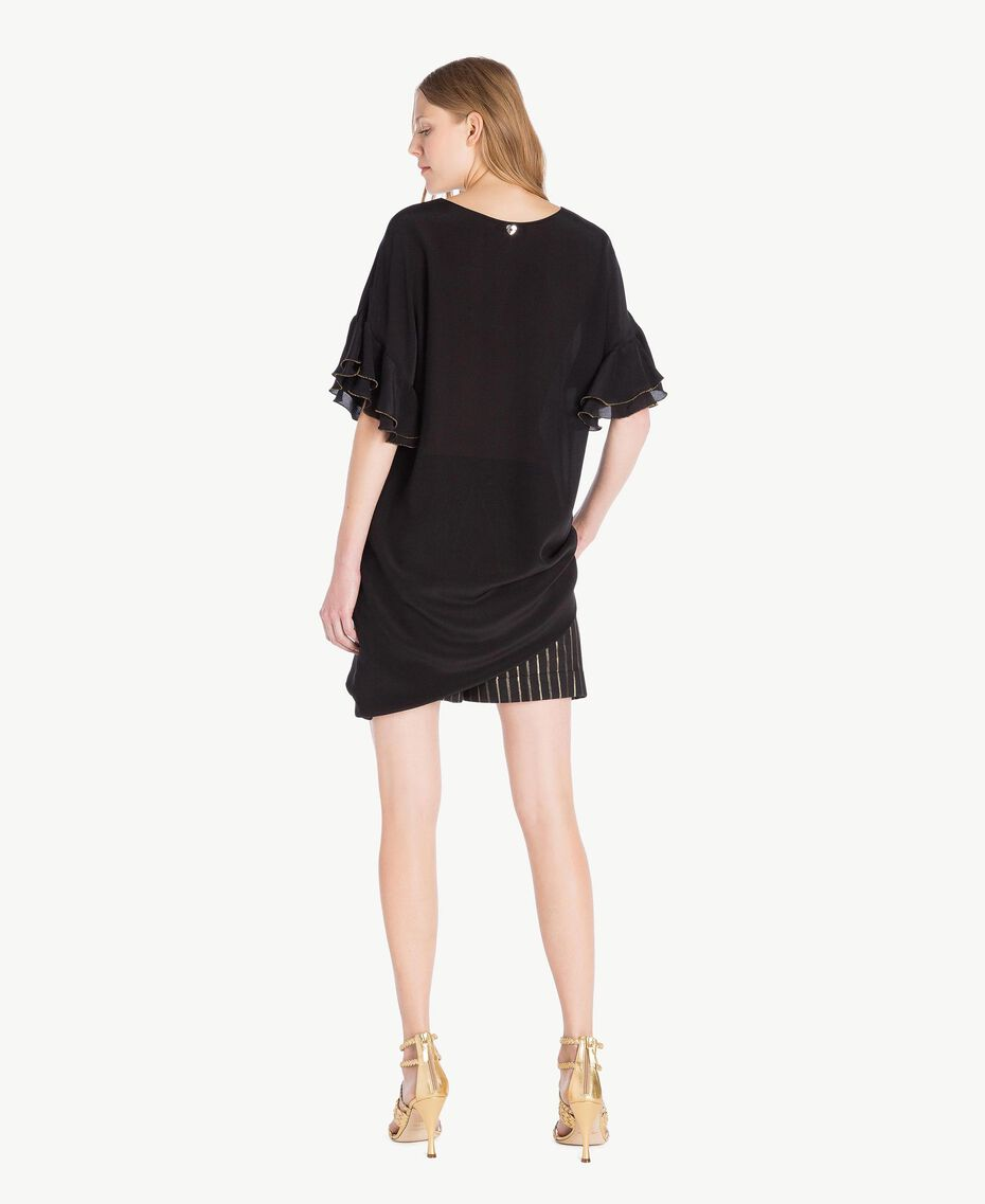 Silk tunic Black Woman TS827D-03