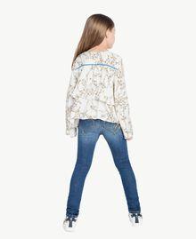 Blusa estampada Estampado Rameado Blanco Envejecido GA724A-03