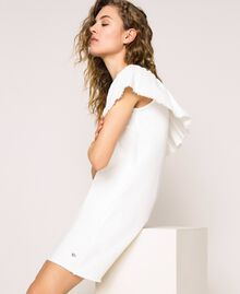 "Robe en jean blanc avec volant Blanc ""Ice"" Femme 201MT2365-01"