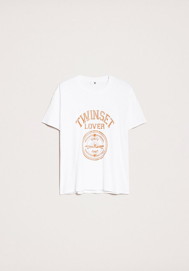 Bedrucktes T-Shirt mit Logo