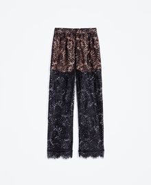 Scalloped lace trousers Black Woman IA8CRR-01
