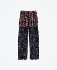 Pantaloni in pizzo smerlato Nero Donna IA8CRR-01