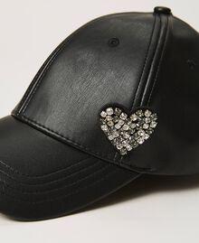 Baseball cap with brooch Black Woman 202LI4ZXX-02