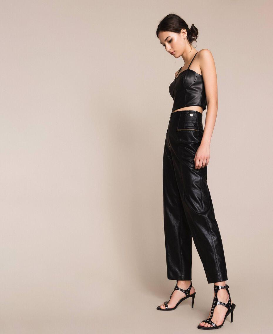Faux leather trousers Black Woman 201TP241C-02