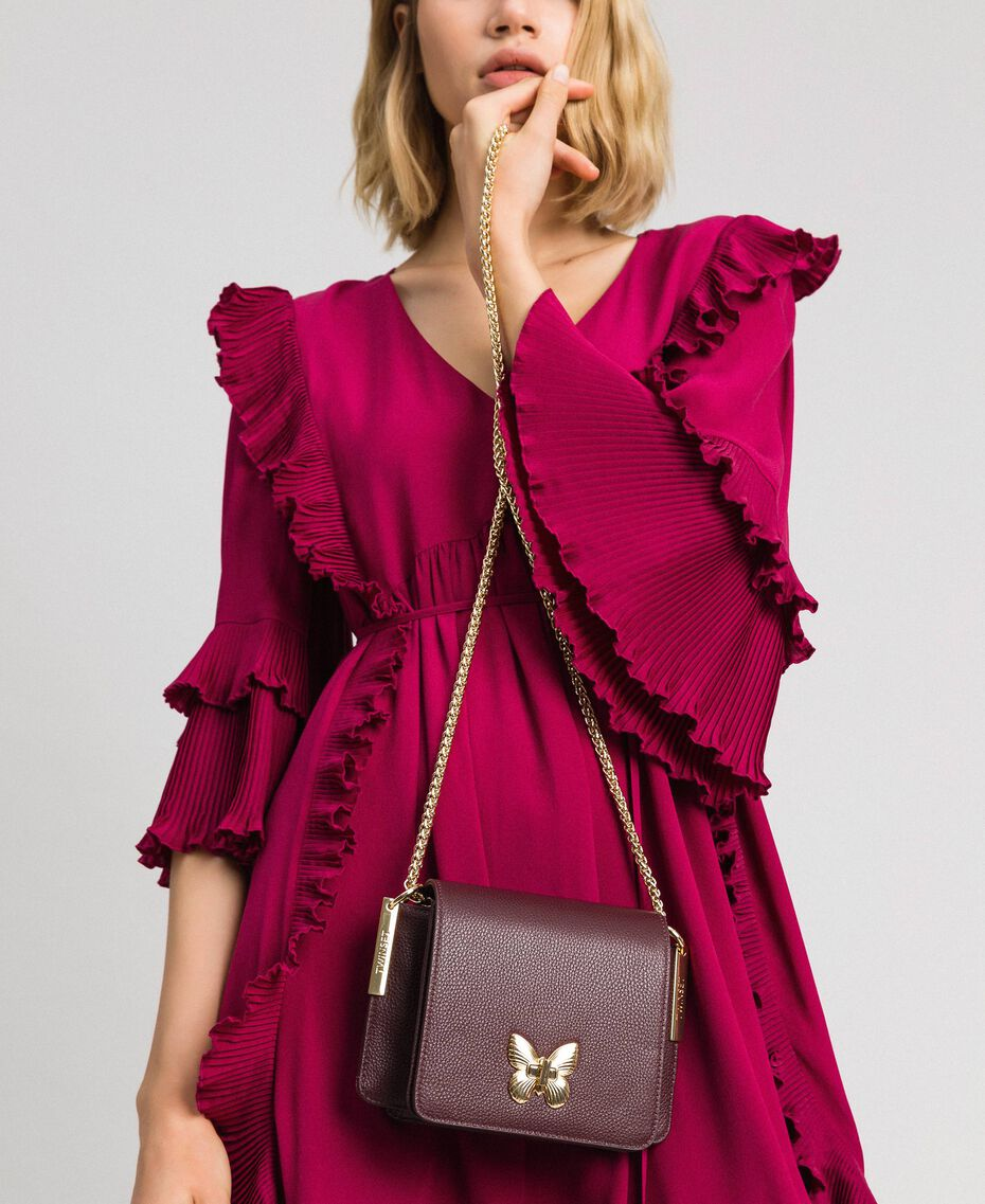 Small Bea leather shoulder bag Beet Red Woman 192TA7021-0S