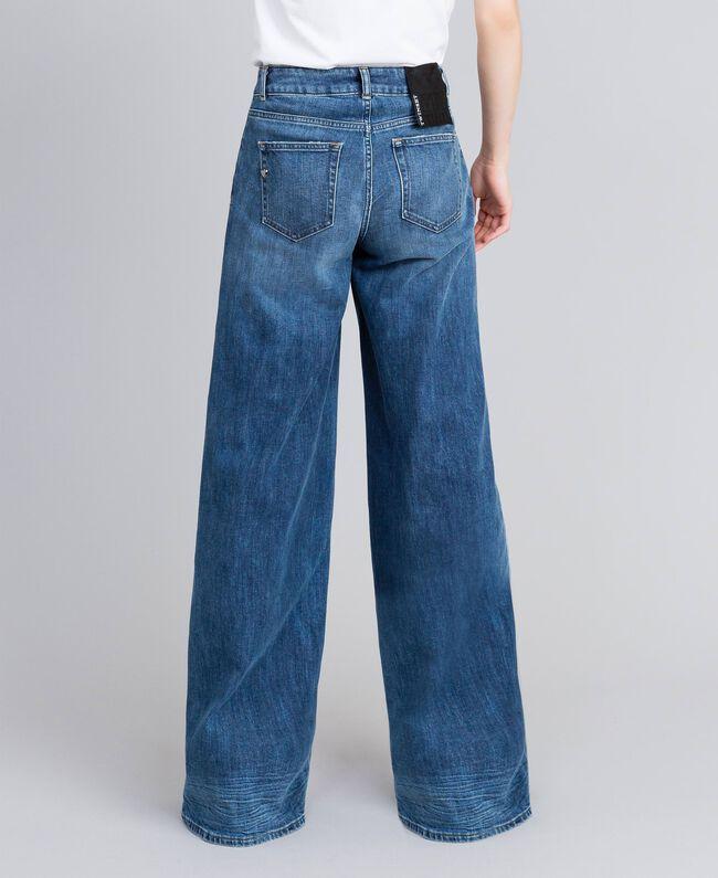Jean large en denim Bleu Denim Femme JA82Q4-03