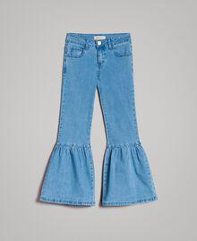 Джинсы, расклешенные от колена Светло-Голубой Деним Pебенок 191GJ2590-01
