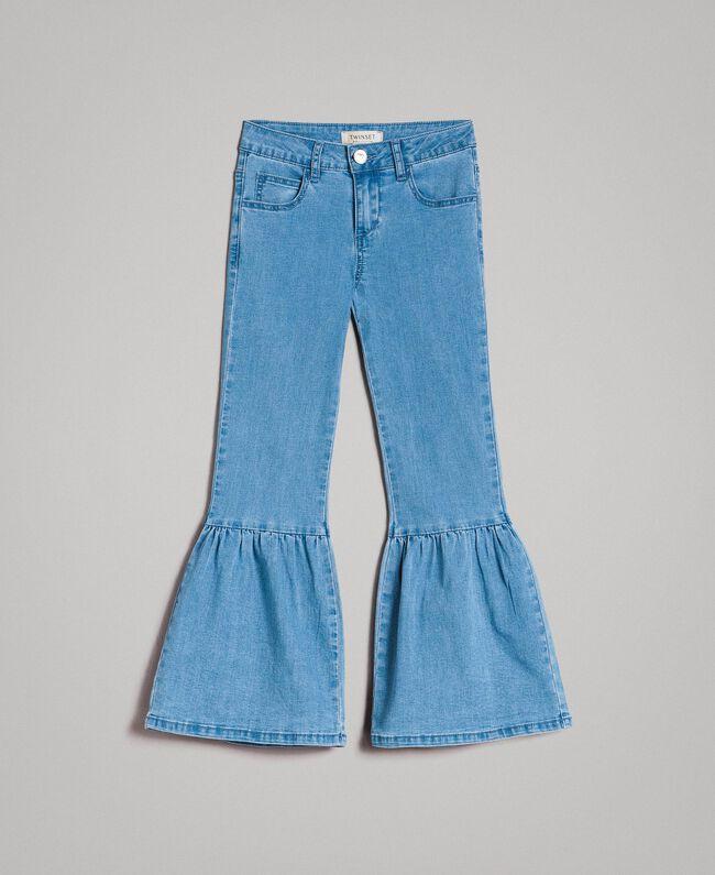 Bell bottom jeans Light Blue Denim Child 191GJ2590-01