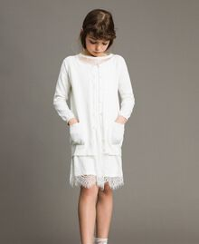 Cotton cardigan with lace Off White Child 191GJ3021-0S