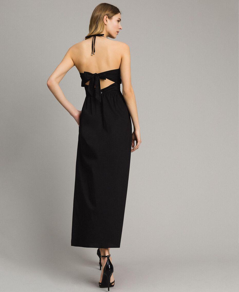 Robe longue en popeline Noir Femme 191LM2CHH-03