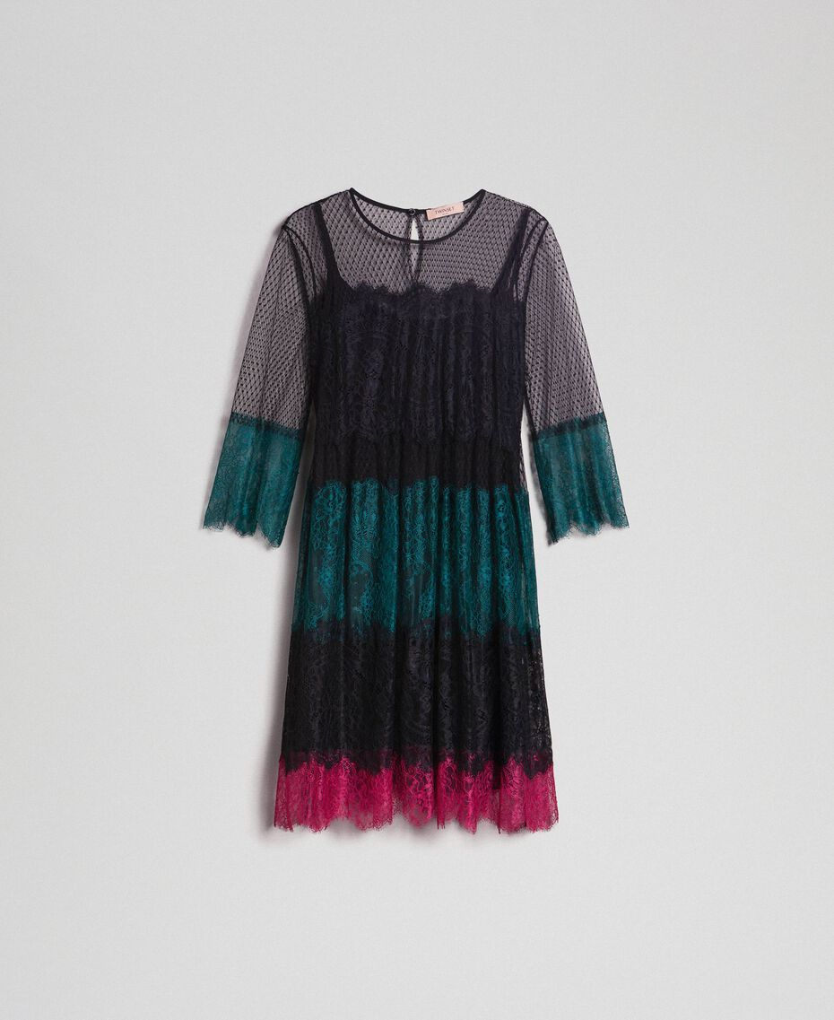 Dress with colour block lace Block Colour Woman 192TP2703-0S