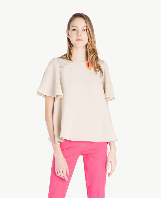 Bluse aus Envers-Satin Dune Frau TS823E-01
