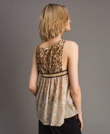 "Animal print top ""Petra Sandstone"" Brown Animal Print Woman 191LM2UDD-03"