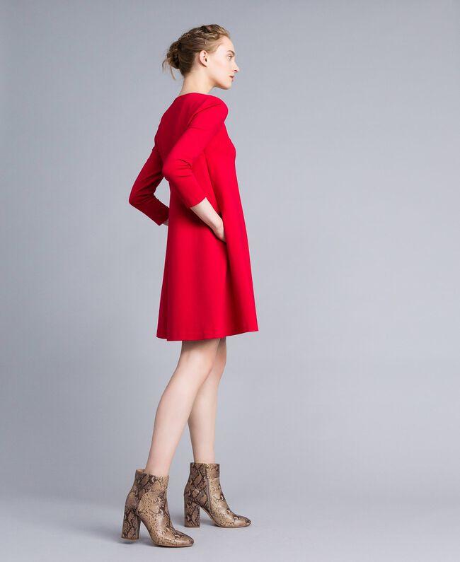 A-Linien-Kleid aus Interlock-Jersey Venedigrot Frau PA821U-01