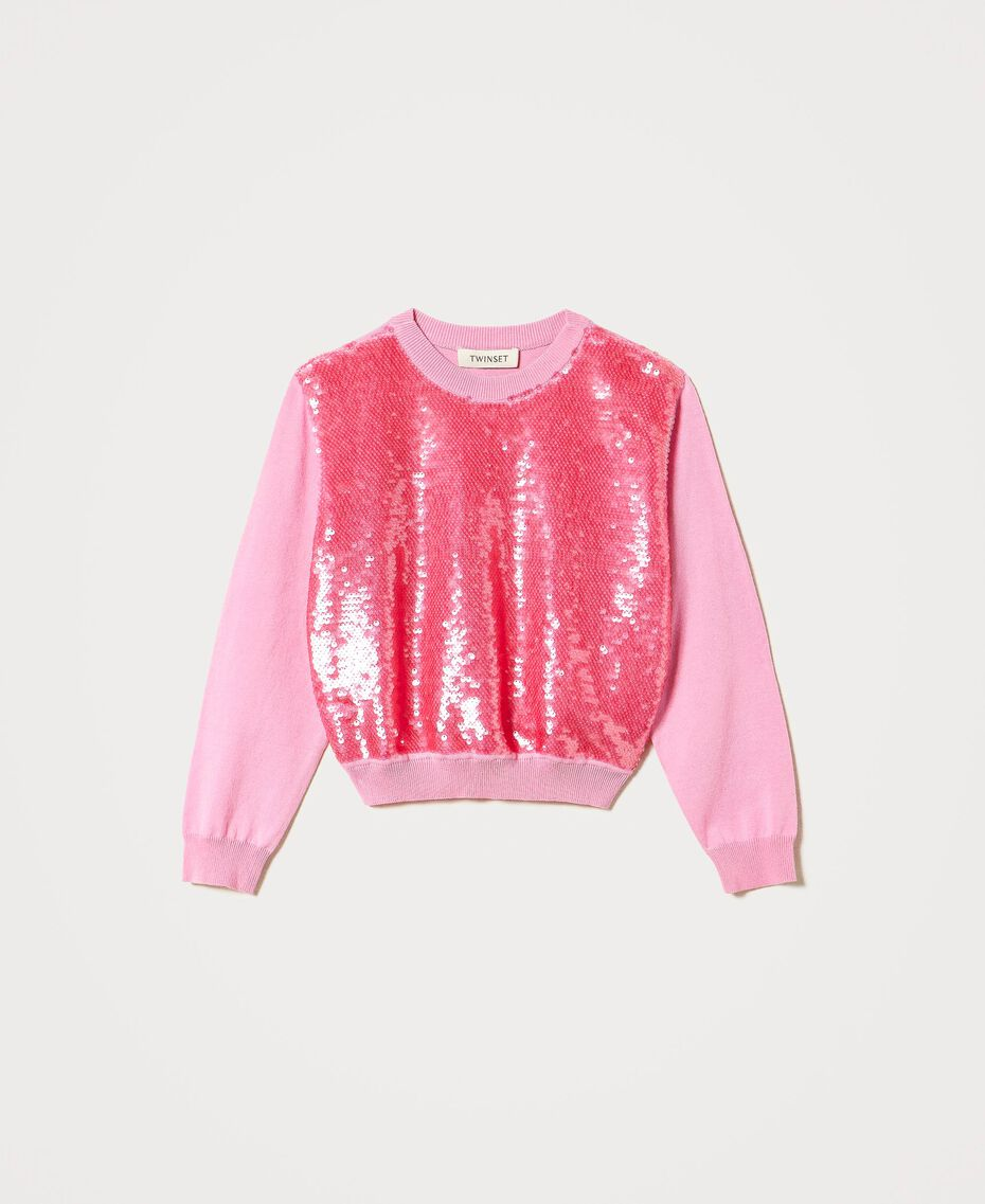 "Full sequin jumper ""Rose Bloom"" Pink Child 211GJ3530-0S"