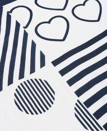 Viscose tassel hems keffiyeh,with print and logo White / Indigo Print Woman 191MA4302-02