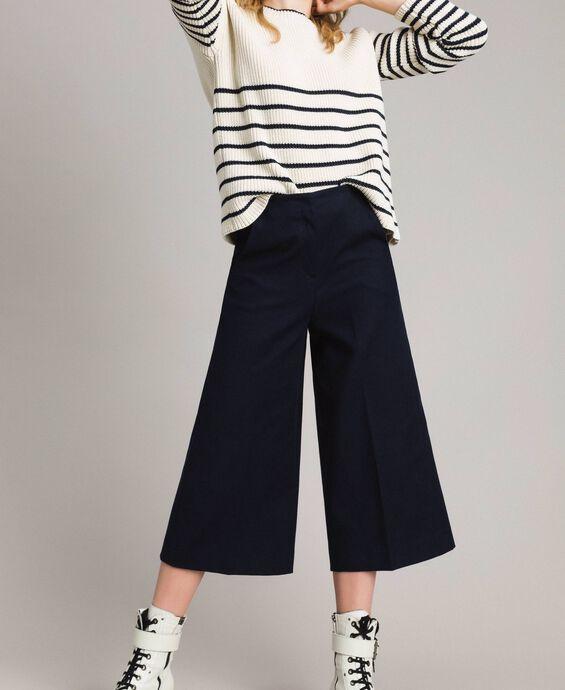 Pantalon cropped en coton