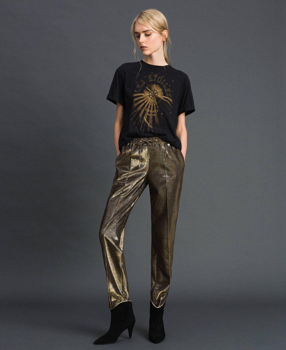 T-shirt con stampa Nero Donna 192TT2561-01