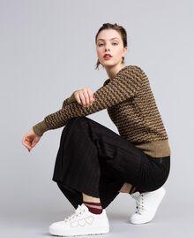 Chaussettes côtelées avec lurex Bordeaux Femme AA8P6A-0S