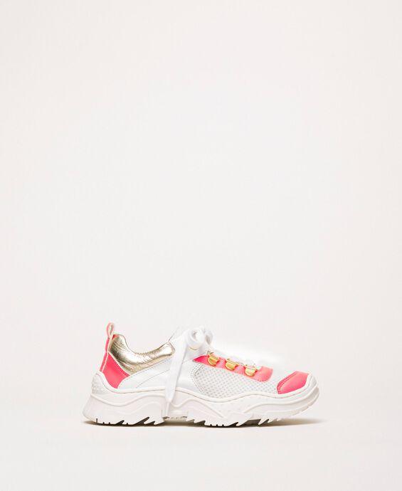 Chaussures de running aux détails fluo