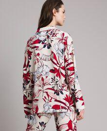 Chemise en crêpe à imprimé floral Imprimé Exotique Écru Femme 191ST2230-03