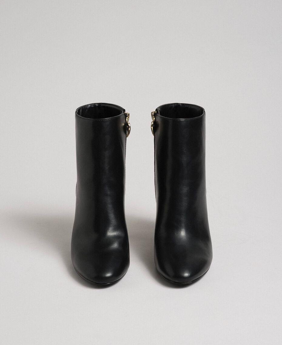 Ботильоны из искусственной кожи Черный женщина 192MCT030-05