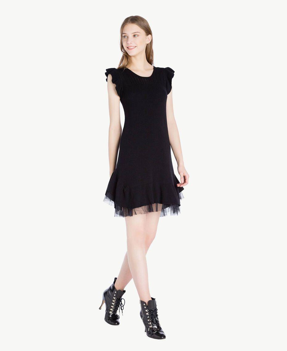 Robe ajourée Noir Femme PS8311-02